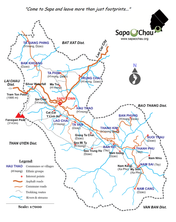 Sapa Trekking map